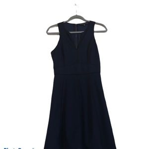 Adelyn Rae navy dress size small with black piping